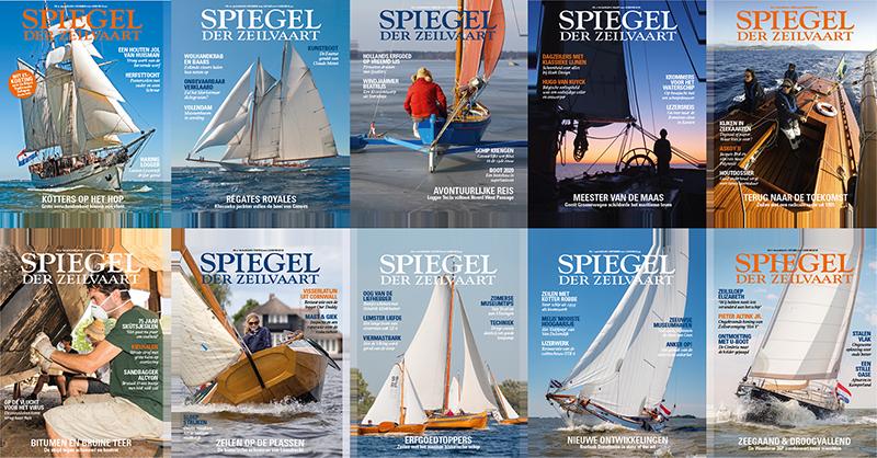 Spiegel der Zeilvaart 10 magazines voor 53 euro